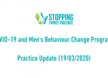 COVID-19 & Men's Behaviour Change Programs