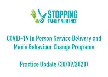 COVID-19 and Men's Behaviour Change Programs Practice Update 3 (30/9/20)