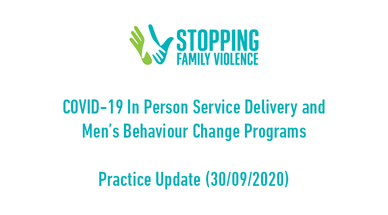 COVID-19 and Men's Behaviour Change Programs Practice Update 3 (30/9/20)